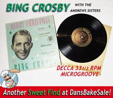 Bing Crosby 1949 Vintage Decca Unbreakable Christmas LP 33 RPM Andrews Sisters