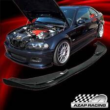 2001-06 H-Style Black Poly-Urethane Front Bumper Lip Spoiler For Bmw E46 M3