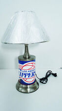 "Los Angeles Clippers Desk Lamp Silver Polished Metal Sign Collectible NBA 18"" LA"