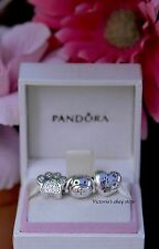 New! Authentic Pandora I Love My Dog Sterling Silver 3 Pcs Charm Set