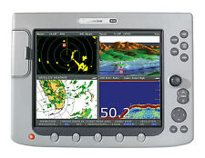 RAYMARINE E-120 CLASSIC MFD GOOD CONDITION MANUALS, CABLES, FLUSH MOUNT