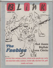 Blink Zine #9 Summer 1995 Luna Chicks The Feebles BigHair Red Aunts Music
