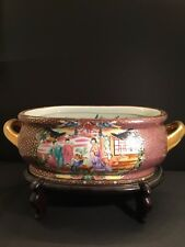 Chinese Famille Rose Porcelain Fish Bowl With Qianlong  Mark
