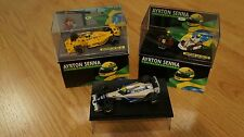 3x Minichamps F1- Ayrton Senna - Williams - Lotus - Kart - 1:43