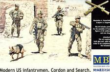 MB MASTERBOX-Modern us Infantry Dog cordon and search figuras 1:35 irak buscar