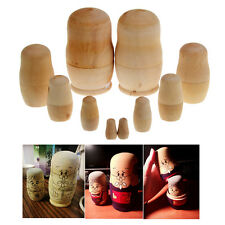 Paint And Design Your Own Set Of 5 Wooden Russian Nesting Dolls arts Craft Kit