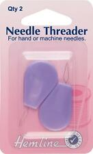 Hemline Needle Threader with Plastic Crafts Haberdashery Sewing Tools Equipment