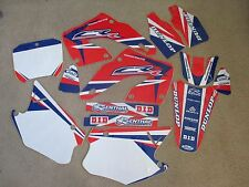 Team Honda World graphics & number plates CR125 CR125R  CR250 CR250R 2000 2001