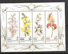 SOUTH AFRICA, 1981 ORCHID CONFERENCE MIN SHEET,  SG MS 502  MNH,