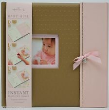 Hallmark Brown & Pink Baby Girl Instant Memory Book NWT