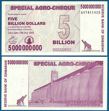SIMBABWE / ZIMBABWE 5 Billion Dollars 2008 UNC  P.61