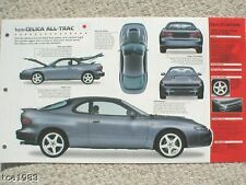 TOYOTA CELICA ALL-TRAC SPEC SHEET / Brochure:1991,1992,1993