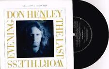 "DON HENLEY - THE LAST WORTHLESS EVENING - 7"" 45 VINYL RECORD w PICT SLV - 1989"