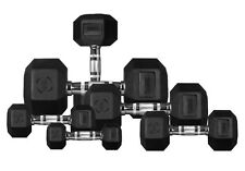 Hex Dumbbells Full Set 2 kg 4 kg 6 kg Hexagonal Rubber Encased Ergo Weights Sets