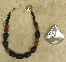 """RLM STUDIO ENHANCER ON WOOD PEAR BEAD 17"""" NECKLACE QVC SOLD OUT"""