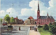 Germany AK Chemnitz Theater Museum Petrikirche 1920 pre inflation cover postcard