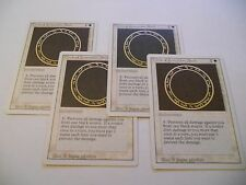 4x MTG Circle of Protection: Black-Circolo di protezione: Nero Magic EDH REV x4