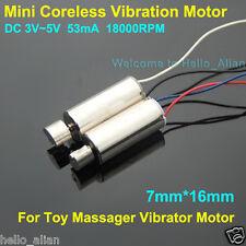 2PCS 7*16mm DC3V~5V 18000RPM Mini Coreless Vibration Vibrator Motor for Massager
