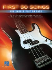 First 50 Songs You Should Play On Bass Tab Book NEW!