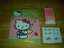 AT HOME WITH HELLO KITTY MAGAZINE ISSUE 1 WITH DISPLAY CABINET & PLATES & TRAYS