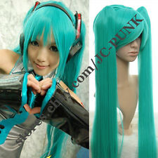 Vocaloid Hatsune Miku Cosplay Wig + 2 Ponytails 120cm Green Color