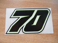 Michael Laverty  #70 Race Number sticker - 100mm high -  MotoGP BSB decal *Black