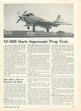 1953 Aviation Article First Test Flight of McDonnell XF-88B Turboprop Jet