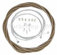 Bicycle 5mm LINED freestyle for ACS rotor brake cable kit BMX MUDDY BROWN