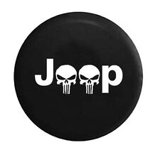 R16 Cool Skulls Logo Spare Tire Cover Soft Case Spare Wheel Tyre Cover For Jeep