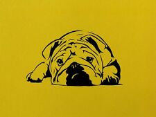 English Bulldog Wall Art Home Adesivo Decalcomania ANIMALI PET VINILE DECOR