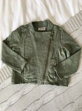 Next Khaki Army Green Jacket Top Girls 18-24 Months 1.5-2 Years - Worn Once