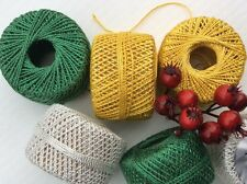 "6 ""GOLD-SILVER-GREEN GLITTER CORD"" CHRISTMAS CRAFTS, WRAPPING, BAUBLES. 16.5mts"
