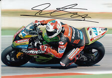 David Salom main signé Kawasaki 7x5 photo wsbk 2.