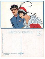 C770) WW1 CODOGNATO RAGAZZA CON SOLDATO FRANCESE. SERIE 606 N° 1.