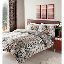 Reversible King Size duvet cover set Tigre y ropa de cama estampado de leopardo