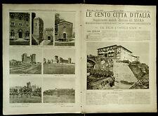 1900 = LE CENTO CITTA D'ITALIA = VALDELSA-CASTELLI SENESI = ITALIA.ETNA.SONZOGNO
