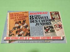 PUBLICITE - WALT DISNEY - NOUVEAU 8 EME MANUEL DES CASTORS JUNIORS ( B8 )