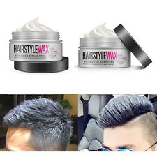 Popular Unisex Silver Grey Wax,hair model Pomade Gel Mud Long-lasting Hairstyle