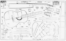 "000 Full-Scale 36"" x 58"" Guitar Plan / lutherie / guitar making"