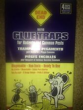 Glue mouse trap 4  strong baited disposable non-toxic roaches bugs