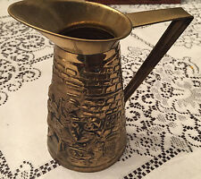 OLD VINTAGE BRASS PITCHER PEERAGE MADE IN ENGLAND