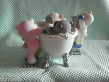 My Blue Nose Friends figurine *-* BAIN MOUSSANT  *-* LES AMIS DANS LE BAIN