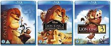 LION KING TRILOGY 2011 BLU RAY Complete TRIPLE PACK PART 1 2 3 NEW & SEALED UK