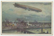"""Zeppelin """"Schütte-Lanz Warschau bombardierend"""" um 1915"""