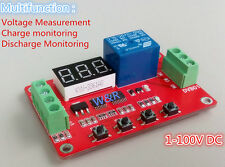 12V Voltage Tester Monitor Charge/Discharge Over/Under Voltage Overload Protect
