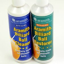 Aramith Pool Snooker Ball Cleaner & Restore 250ml Bottles