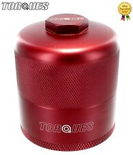 "Torques Billet Aluminium Inspection Re-Usable Oil Filter In Red 3/4"" UNF"