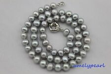 fresh water pearl necklace 7-8mm Gray 17INCH