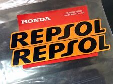 2 Pcs. HONDA GENUINE REPSOL OEM 94X16 mm STICKER DECAL PLATE EMBLEM HRC WING