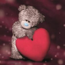 Me to You With Love Teddy Bear & Large Red Heart Card - Tatty Teddy